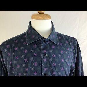 Thomas Dean Flip Cuff Shirt XXL Men's crazy Design